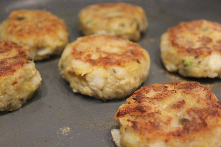 Plantain and Haddock Patties
